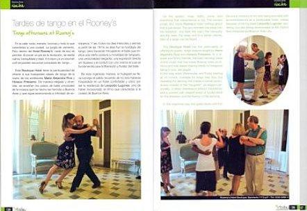 Clases de tango en el Hotel Rooney´s